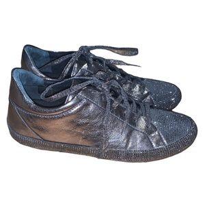 SCHUTZ Women's Silver & Crystal Sneaker Size 37